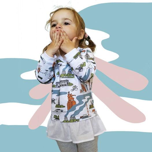 Детское свитшот-платье с МОСКВОЙ