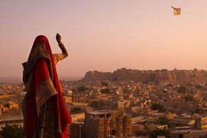 Kite flying with the locals in Jaipur