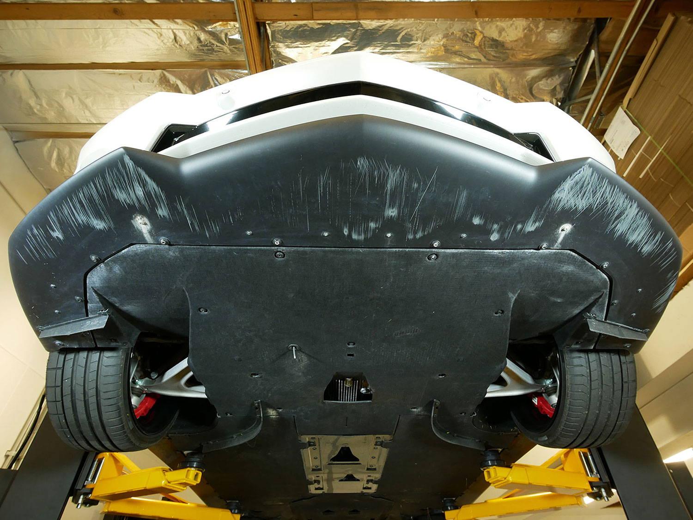 Lamborghini Aventador skid plate protection.