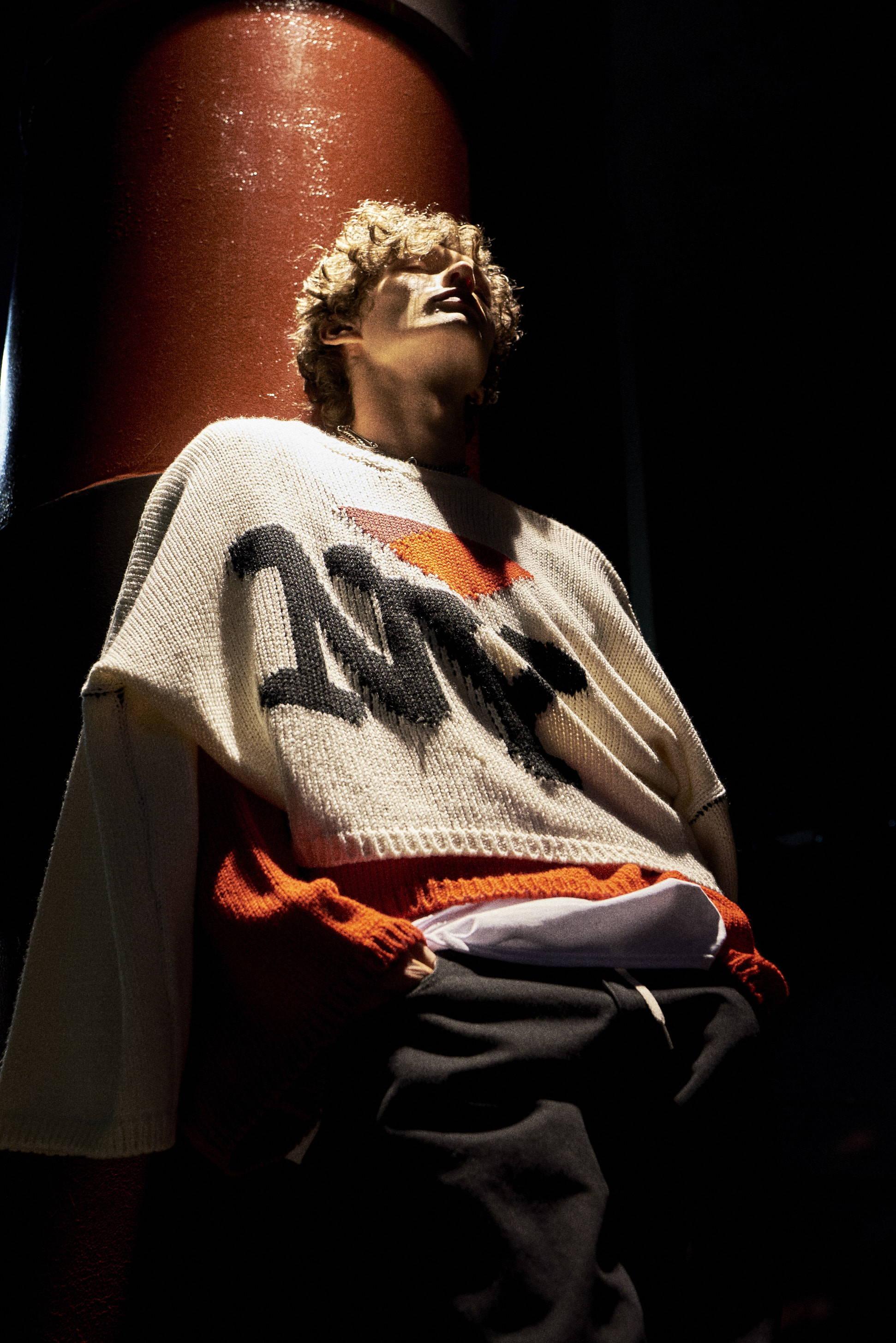 raf simons-hlorenzo 'ny' sweater