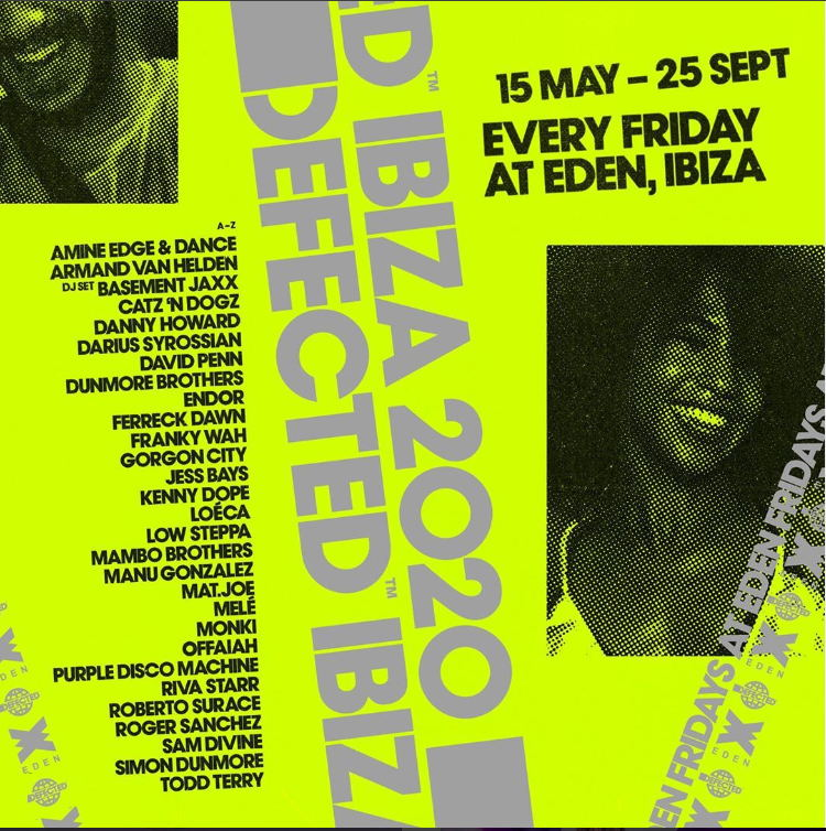 Defected 2020 Eden Ibiza complete lineup