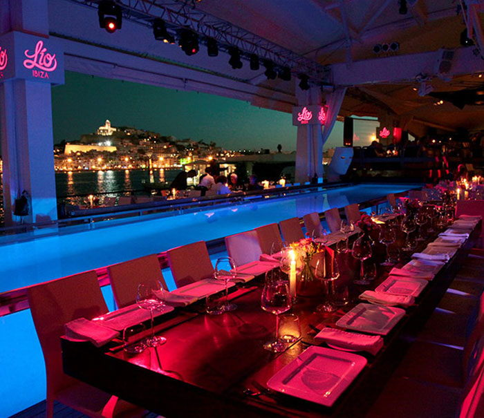 restaurant Ibiza Lio, and experience with club and cabaret