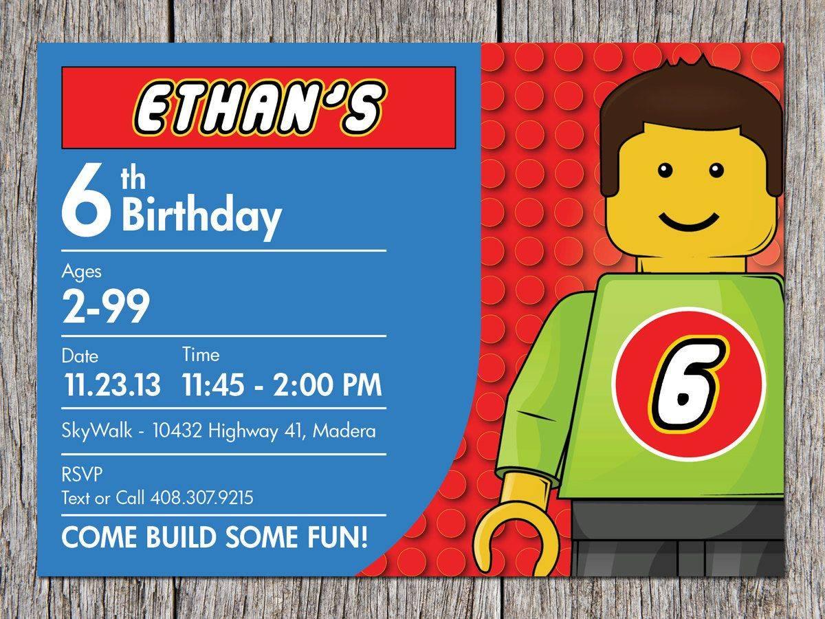 invitation party lego