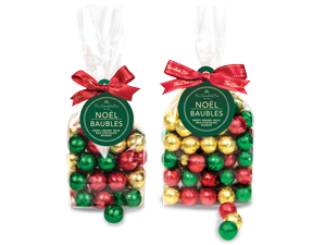 Milk Chocolate foiled Christmas bauble bags
