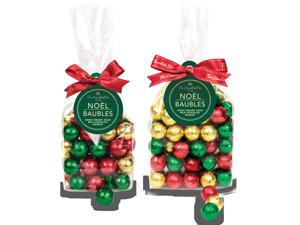 Milk Chocolate foiled Christmas bauble bags