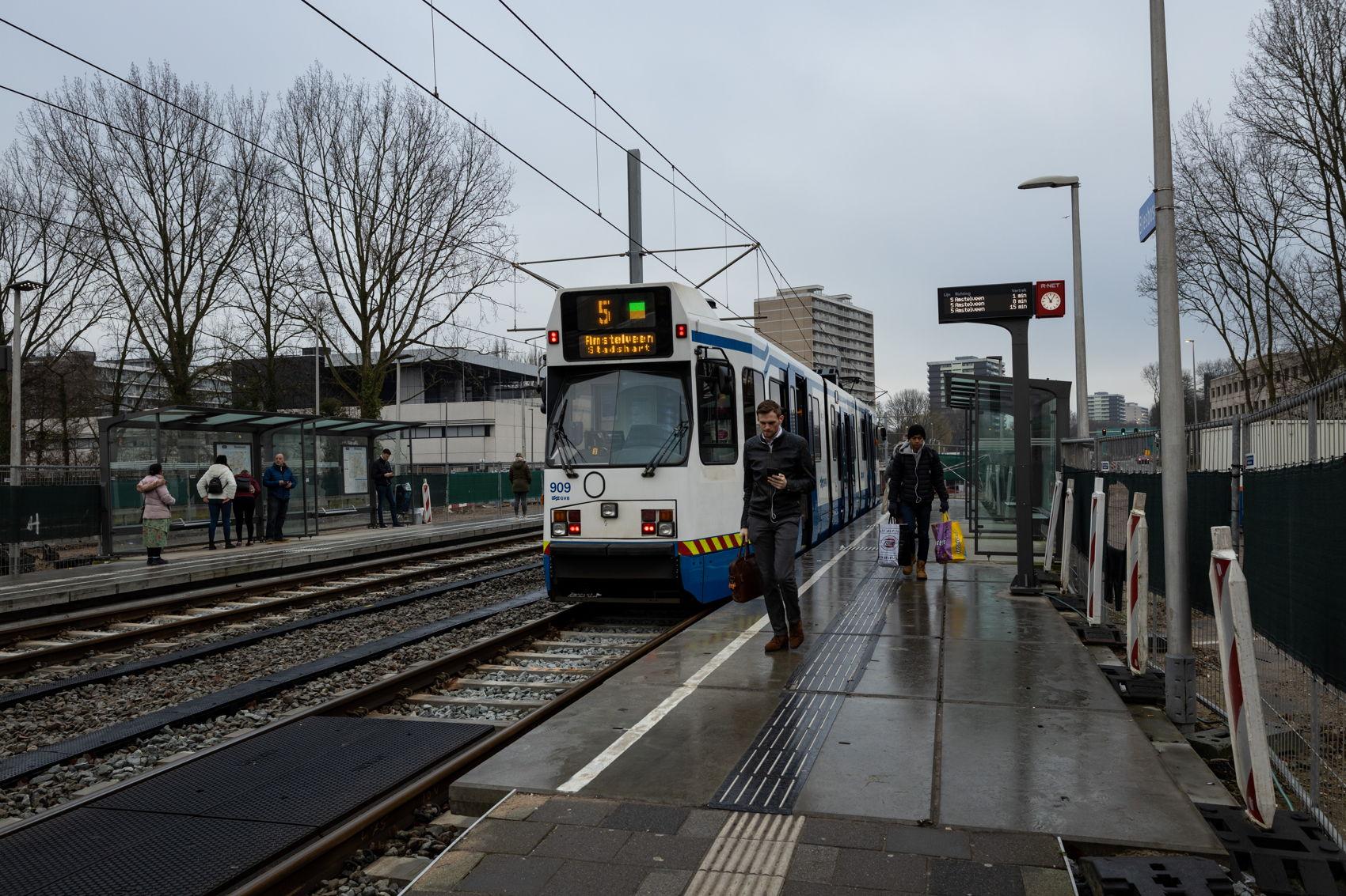 De tijdelijke halte Biesbosch is tot en met 9 maart nog in gebruik. Deze halte vervalt zodra op maandag 9 maart de nieuwe halte Kronenburg open gaat.