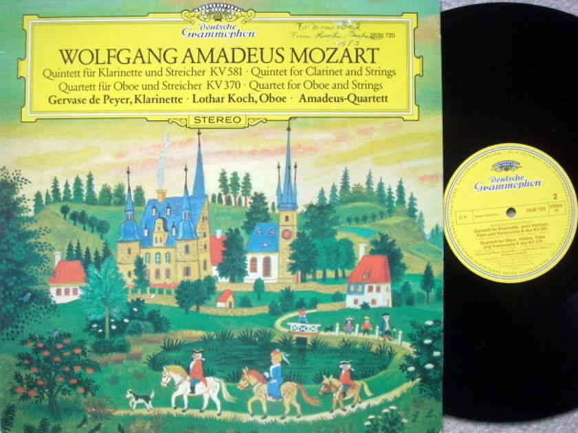 DGG / AMADEUS QT, - Mozart Clarinet Quintet, Oboe Quartet, MINT!