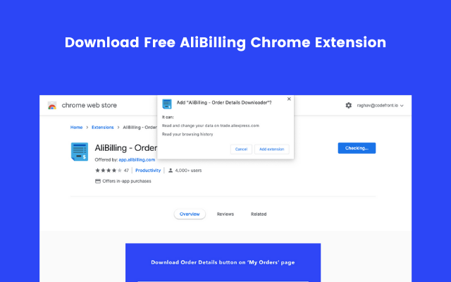 AliBilling Chrome Extension Download