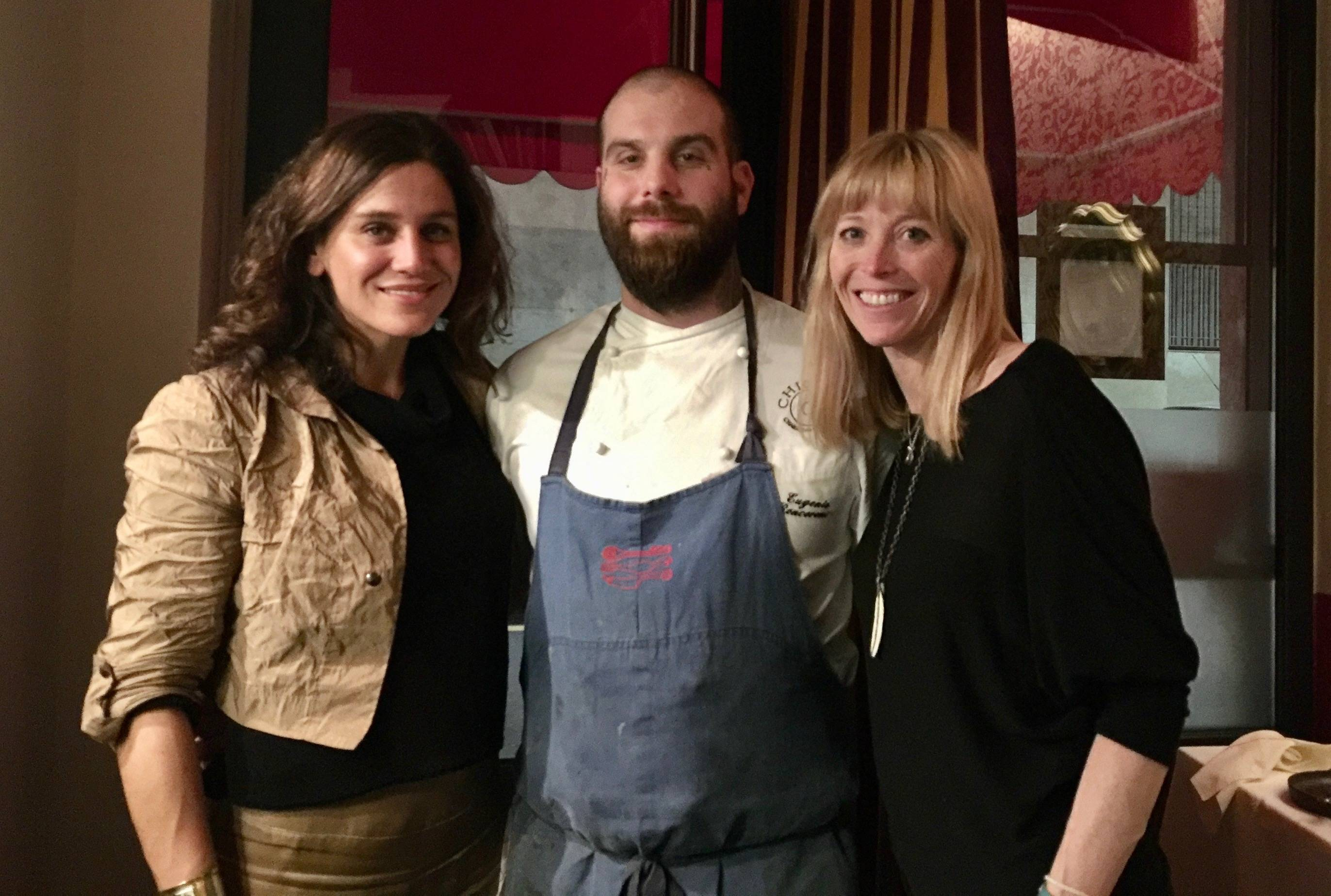 Stick & Ball Founder Elizabeth with her friend Jill and Italian Chef