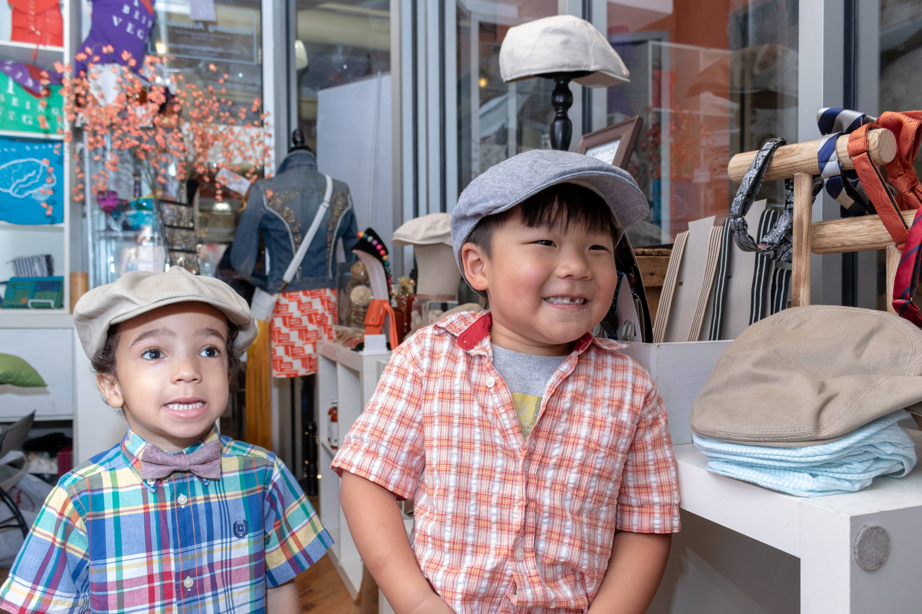 Families in Brooklyn at Junior Baby Hatter's Father's Day Pop Up