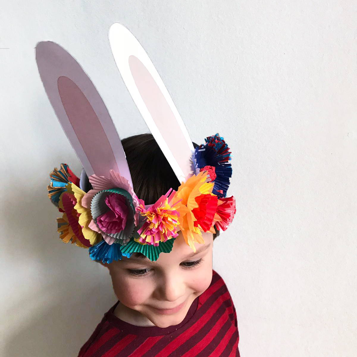 Easter Paper Flower Crown Craft For Children Bkd