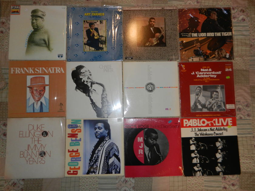 14 LPs Jazz LP lot Gillespie Farmer Sinatra - Parker Duke Ellington Adderley Leon Smith George Benson Eric Edge Playboy Jazz RARE [8/10 and higher]