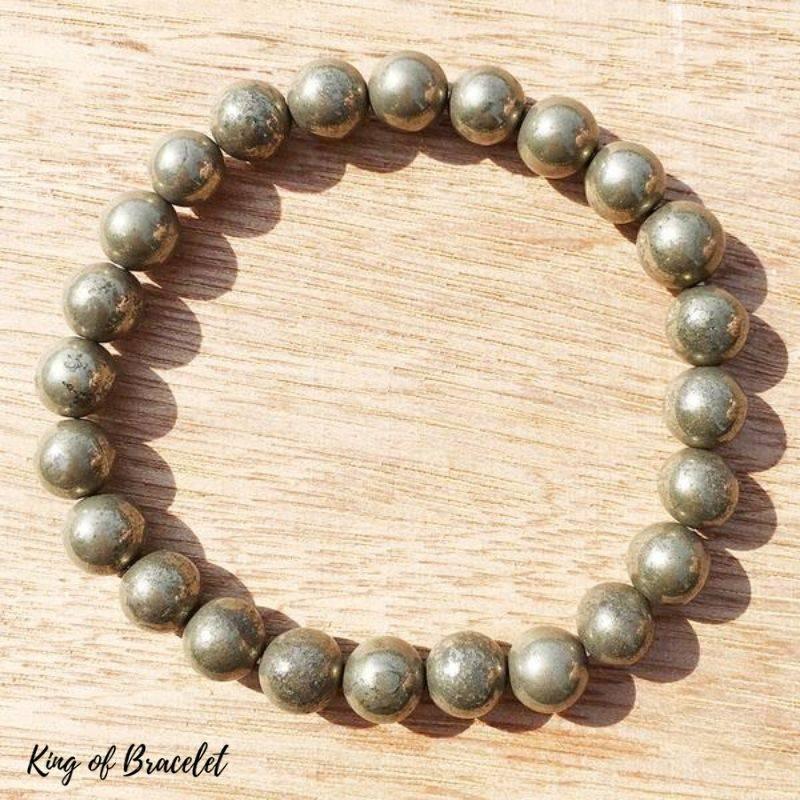 Bracelet de Lithothérapie en Pyrite - King of Bracelet