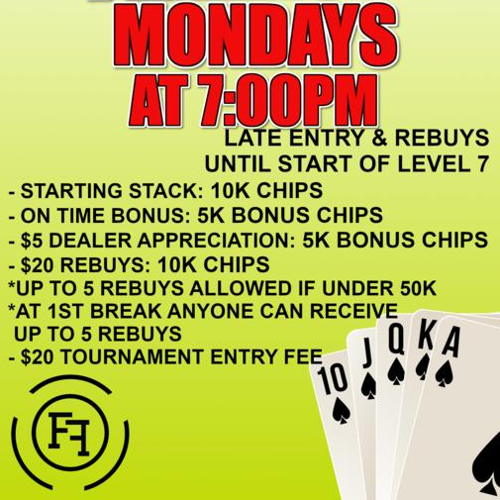 Picture of Monday Night NLH Freeroll Tournament $2,000 Guaranteed