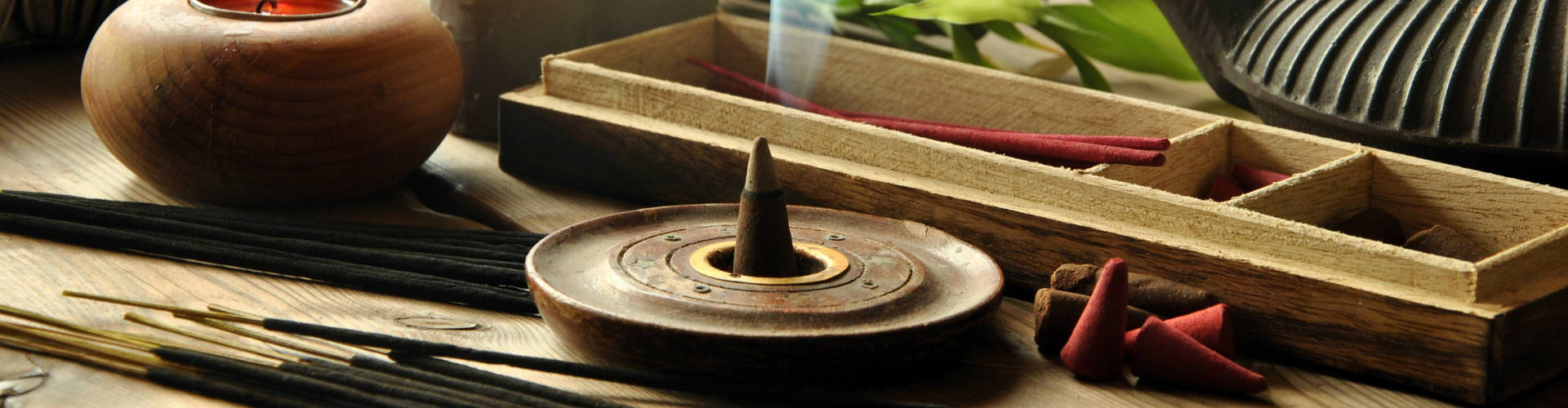 incense cone burning