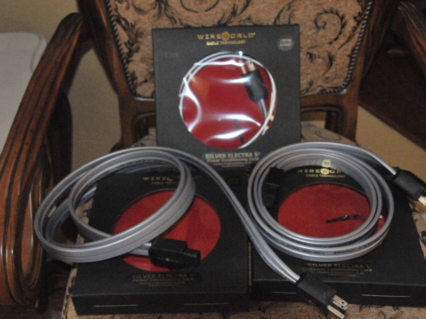 WireWorld Silver Eclectra5.2 2 meter power cord in near new condition for Low price