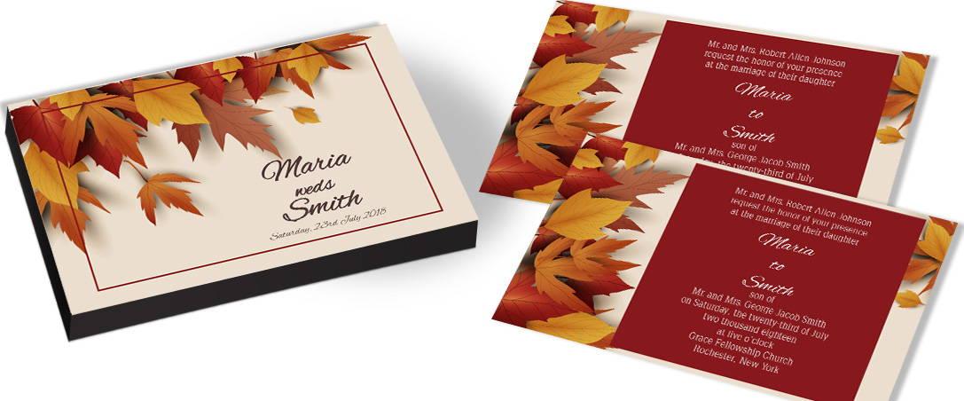 Autumn Leaves Wedding Invitation