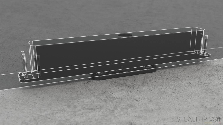 Stealth Pivot XL inside a door leaf