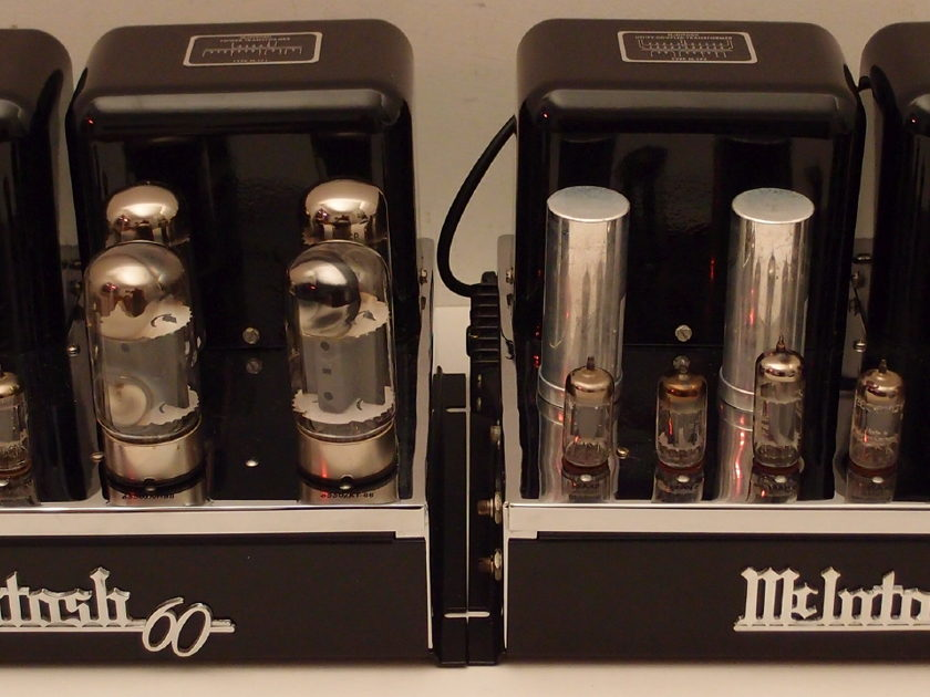 GORGEOUS PAIR OF  MCINTOSH MC60 TUBE AMPLIFIERS GORGEOUS INSIDE AND OUTSIDE