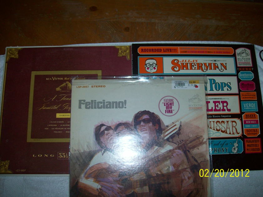 "RCA Red Seal Records - Allen Sherman ""Peter The Great"" and ""A Treasury of Immortal Performances - Caruso"""