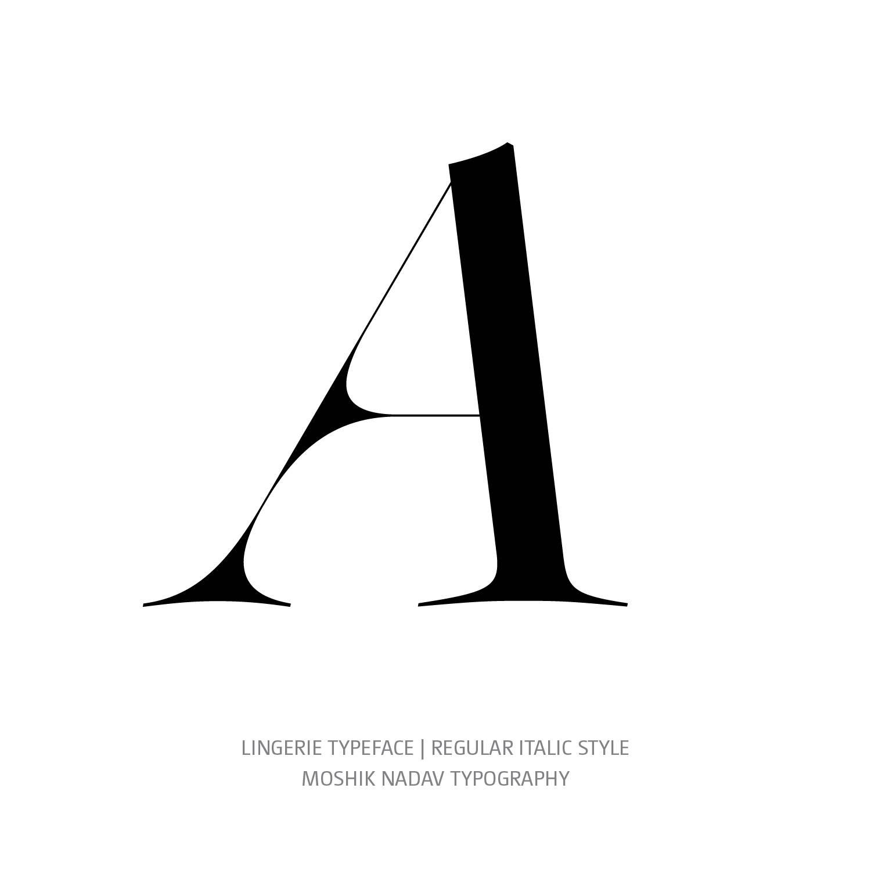 Lingerie Typeface Regular Italic A - Fashion fonts by Moshik Nadav Typography