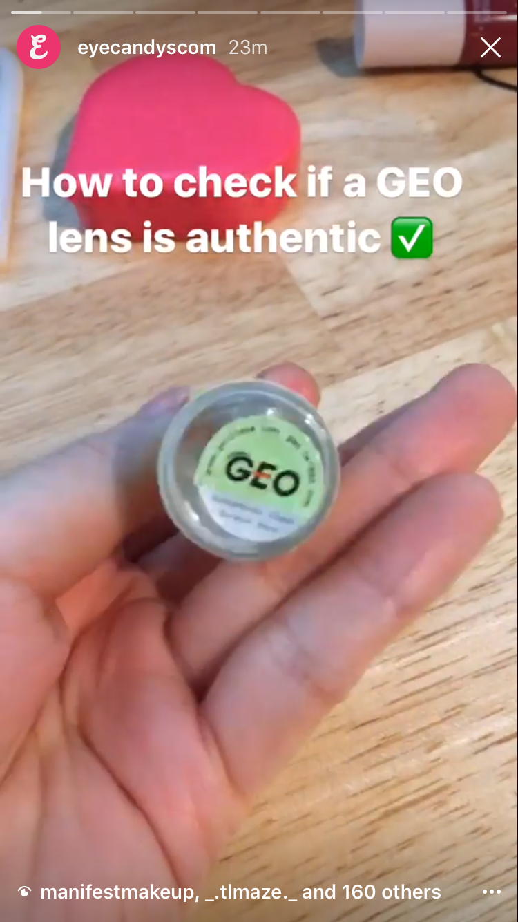 How to Check if a GEO lens is Authentic (Instagram story)