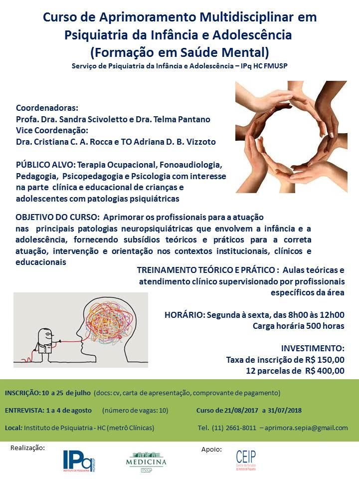 Aprimoramento Multidisciplinar em Psiquiatria da Infância e Adolescência (Formação em Saúde Mental)
