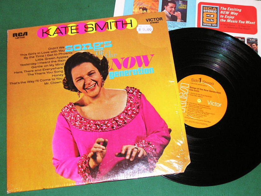 KATE SMITH - SALUTES THE NOW GENERATION N - * 1969 RCA 1st PRESS RCA6b LABEL * FACTORY SHRINK - NM 9/10