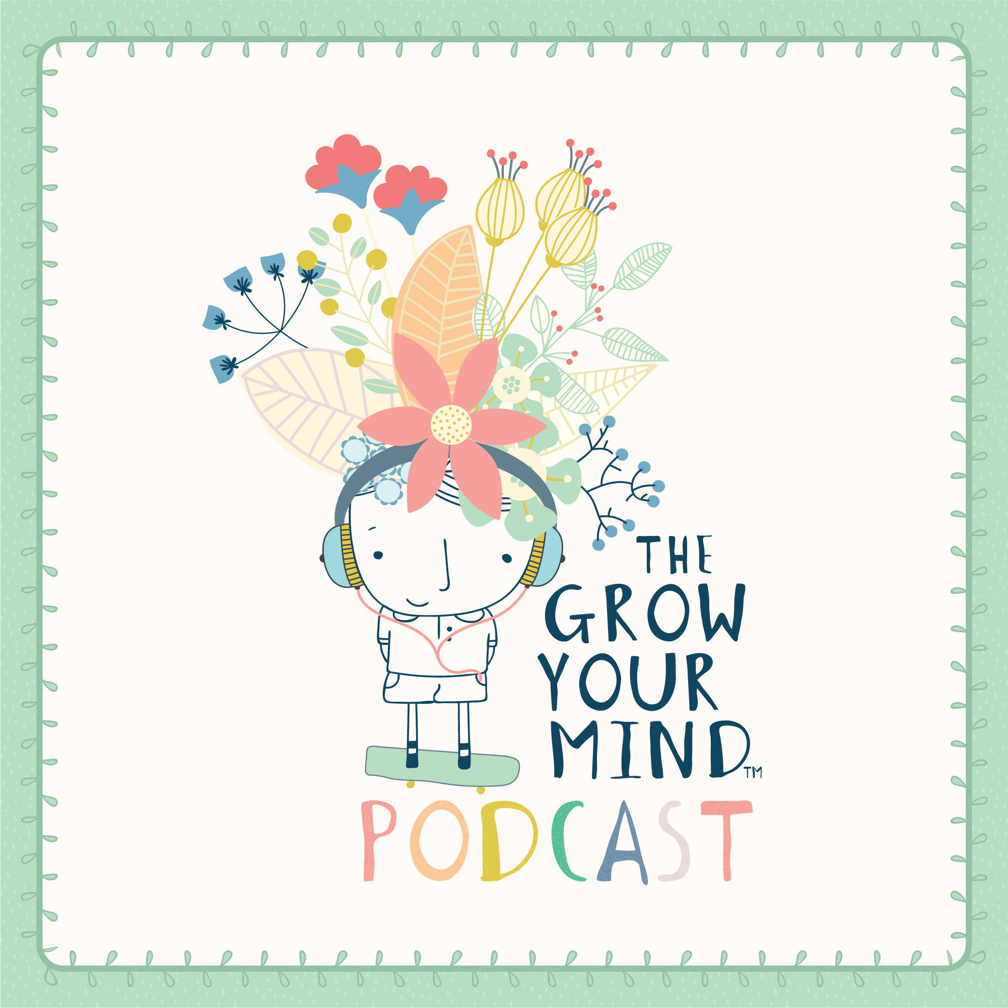 the grow your mind podcast logo