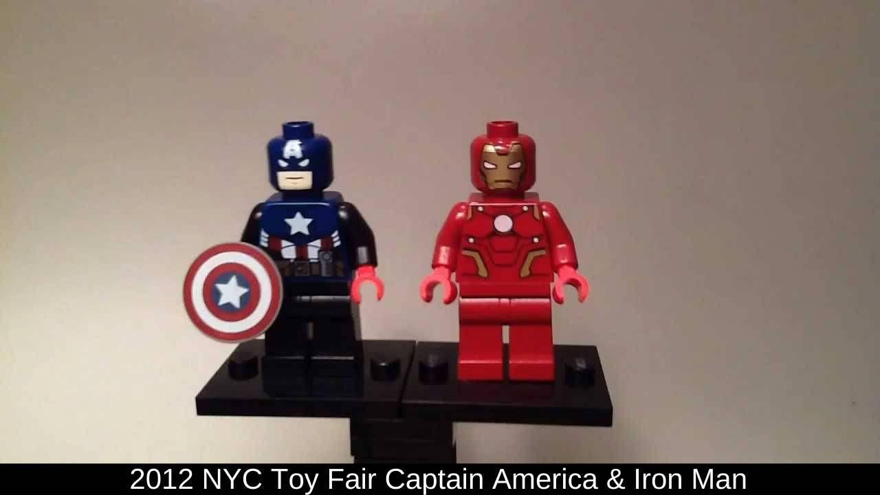 LEGO New York Toy Fair Captain America and Iron Man