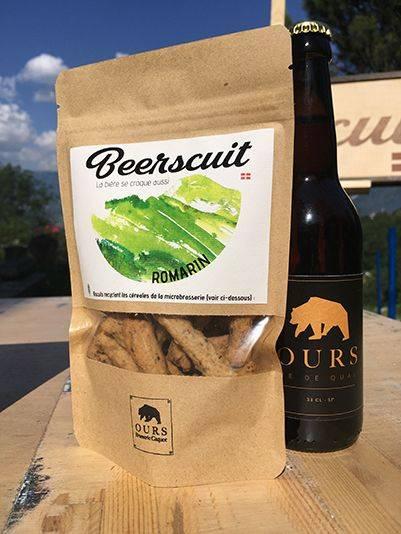 biscuit apéro recyclé bière et romarin