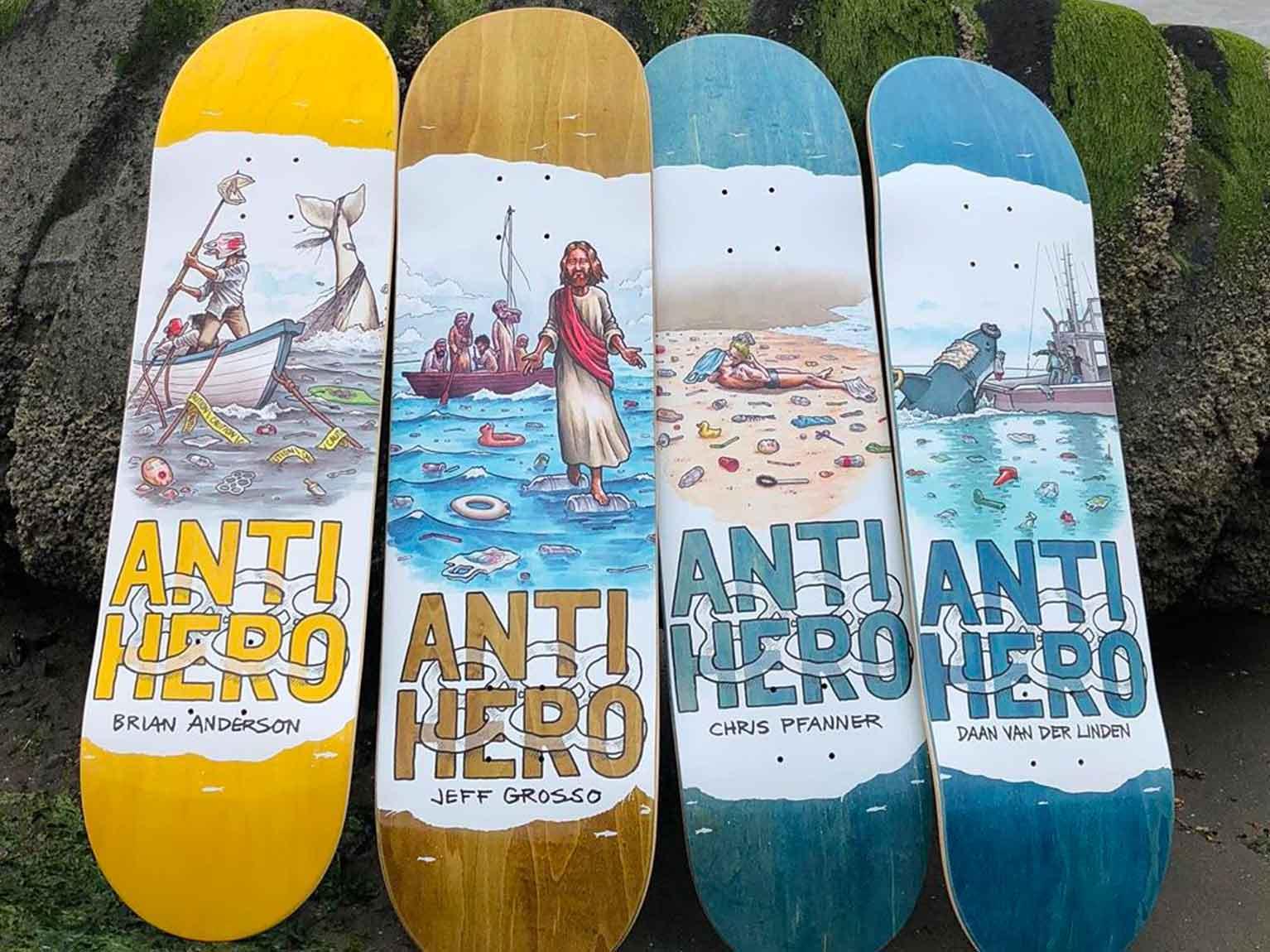 Antihero Skateboards ecco le nuove tavole dello spring 2020