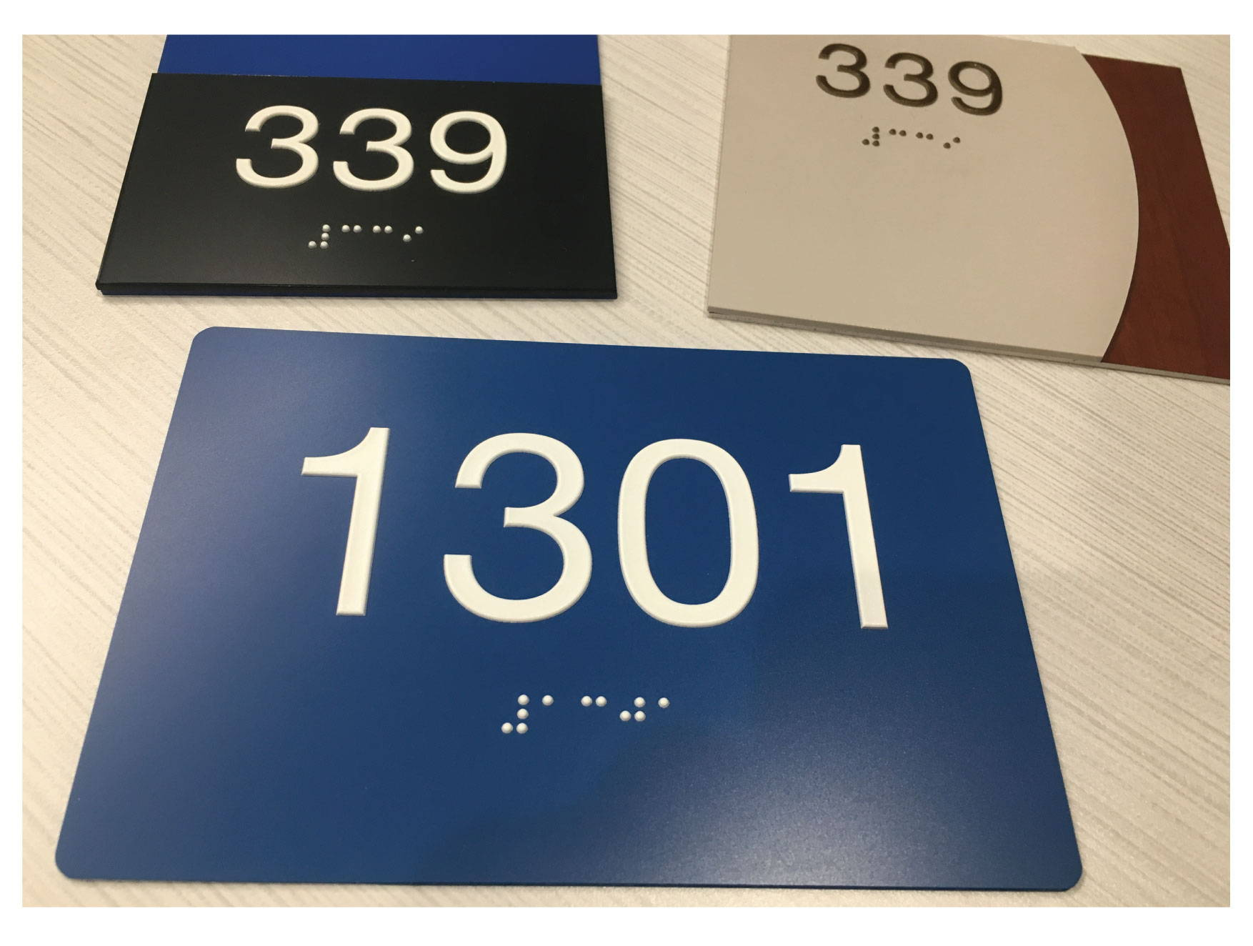 ADA Custom Room Number ADA Signs with Grade II Braille, Compliant ADA Signs
