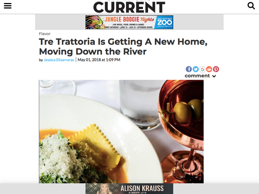 SA Current, Tre Trattoria