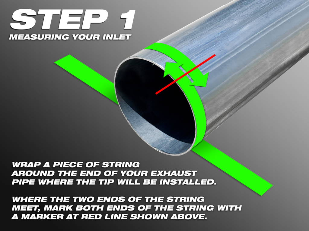HD Off-Road & Remington Off-Road Universal Custom Exhaust Tips Measurement Guide. How to I measure my exhaust inlet size?