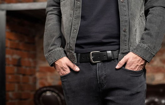 Мужской кожаный ремень, модель Oklahoma
