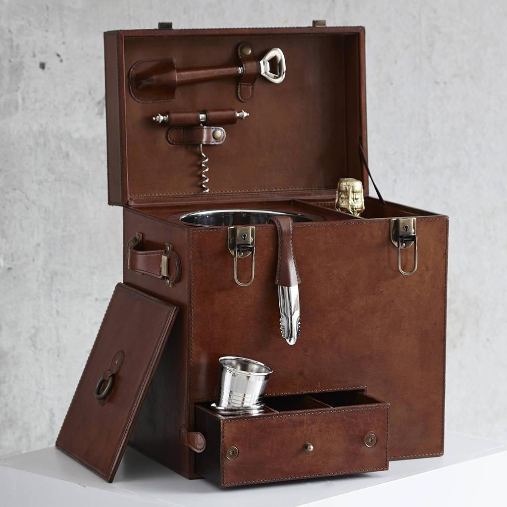 Leather Drinks Box