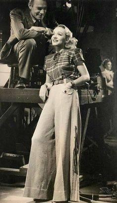 Marlene Dietriech i bukser i 1930'erne