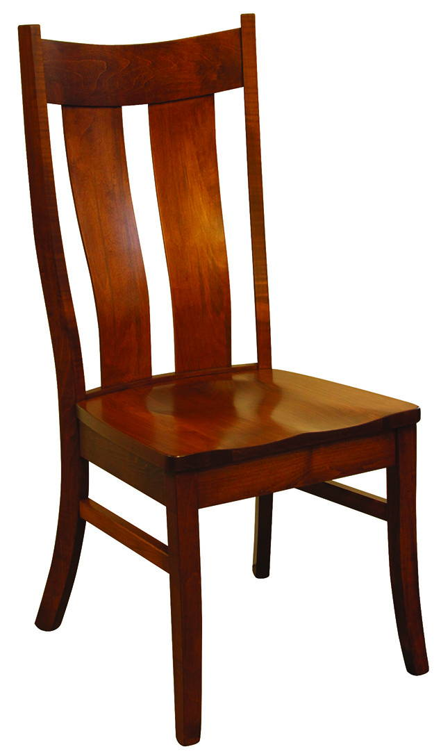 Kirtland Solid Wood, Handcrafted Kitchen Chair or DIning Chair from Harvest Home Interiors Amish Furniture