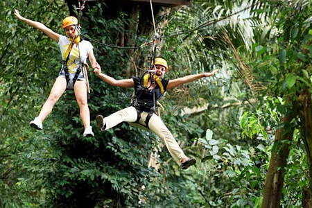 Awesome Zip Lining Through the Jungle