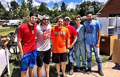 Brothers Work Together to Recover from Louisiana Floods