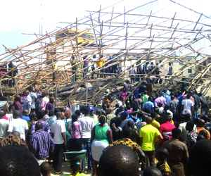 Four-storey Building collapses In Onitsha
