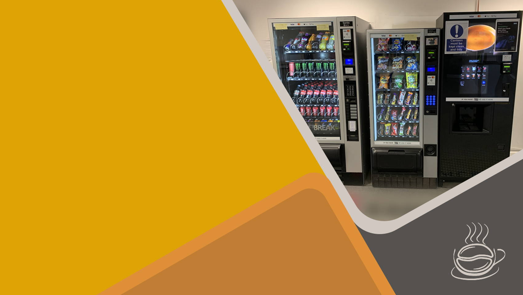 snacks hot & cold drinks vending machines manchester