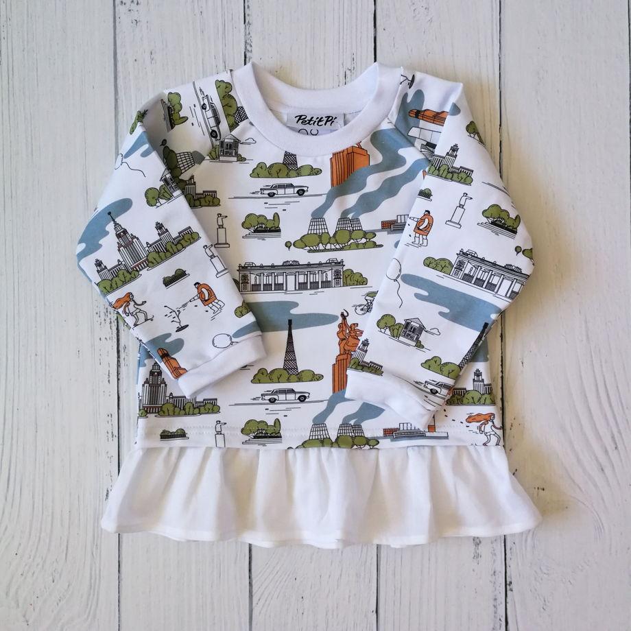 Детское свитшот-платье с авторским притом(в ассортименте)