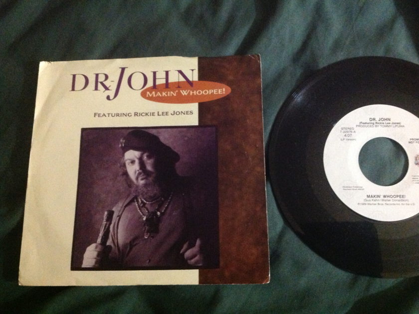 Dr. John with Rickie Lee Jones - Makin' Whoopee! Promo 45 With Sleeve