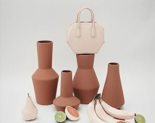 a bag on a vase
