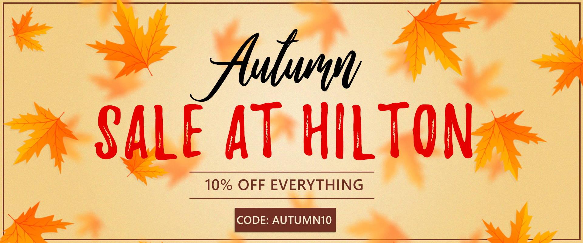sale now on at hilton textiles. code: autumn10