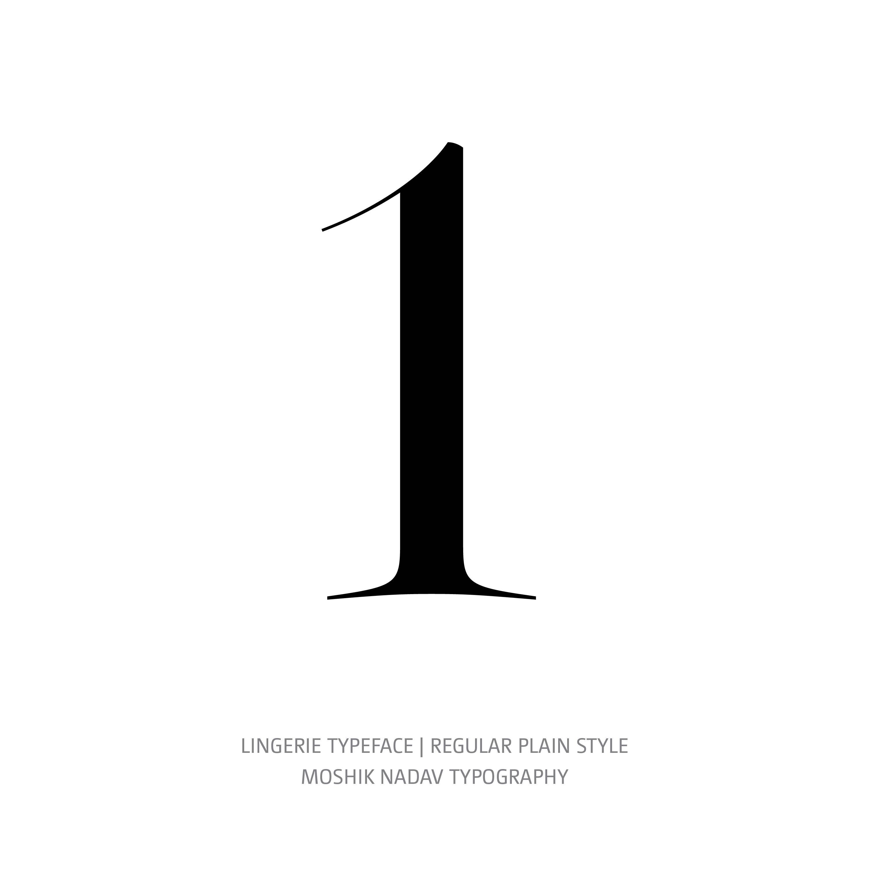 Lingerie Typeface Regular Plain 1