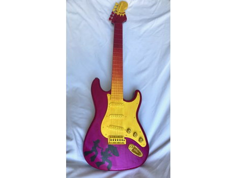 605 Michelle HaysleyHand Painted Electric Guitar