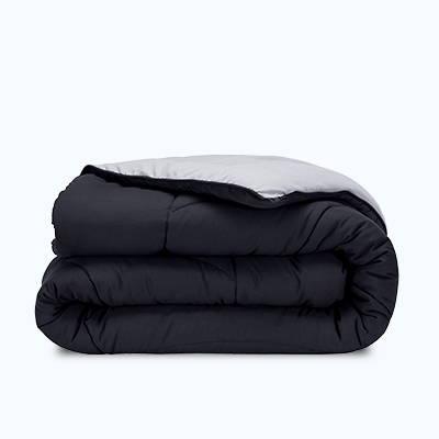 sleep zone bedding reversible comforter grey black soft comfortable folded roll